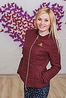 Курточка женская ШАНЕЛЬ бордо, фото 1