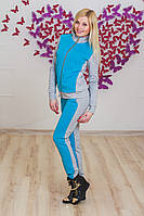 Костюм женский спорт голубой, фото 1