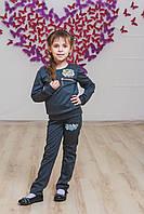 Костюм для девочки с лосинами серый, фото 1