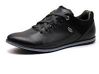 Спортивные туфли мужские натуральная кожа, замша, черные, Турция GS-комфорт, фото 1