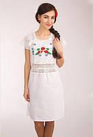 """Плаття з мереживом """"Польові квіти"""" біле"""