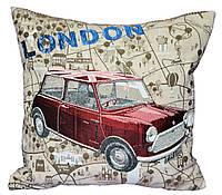 Декоративная подушка  машина COOPER (гобелен)