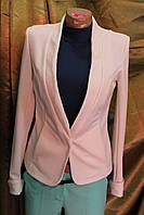Пиджак женский весенний Классик трикотаж белыйй