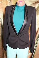 Пиджак женский весенний Классик трикотаж черный