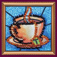 Набор для вышивки бисером магнит Чашечка чая-1
