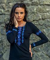Женская трикотажная вышиванка с длинным рукавом