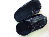 Чешки кожаные лаковые черные ZP