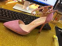 Элегантные  туфли пряжка камни  каблук 9 см  6 цветов