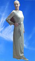 Платье макси из французского трикотажа