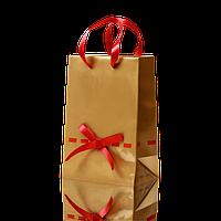 Пакет подарочный золотой 15х20 см