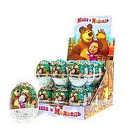 Шоколадные с сюрпризом яйца 25 гр Маша и медведь 24 шт