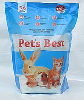 Силикагелевый наполнитель для туалетов котят, кроликов и грызунов Pet's Best Blue Mint 3.6л