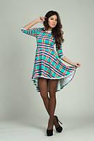 Платье цветная клетка  453 аи