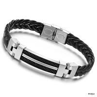"""Мужской кожаный браслет """"Баланс"""", в наличии размеры 21, 22, 23"""