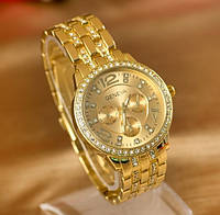 Стальные женские наручные часы Geneva Gold