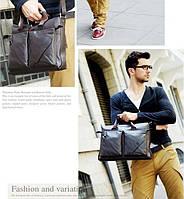 Стильная Мужская кожаная сумка-портфель ПОЛО. Высокое качество.Портфель для мужчин. КожаPU  Код:КСЕ148