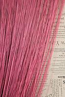 Шторы - Нити Однотонные / Насыщенный розовый