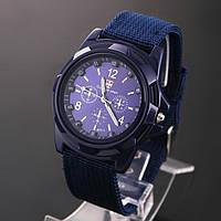 Часы мужские Germius Army, синий ремешок