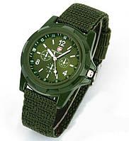 Часы мужские Germius Army, зелёный ремешок