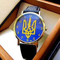 Часы мужские с гербом Украины. Патриотические часы с гербом Украины. Интерент магазин мужских часов. Код: КЧ14