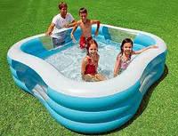 Универсальный прямоугольный надувной бассейн Intex 57495 Семейный