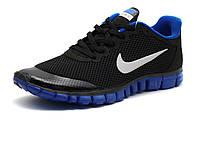 Кроссовки Nike Free Run 3.0 унисекс, черные/ синие, р. 37, фото 1