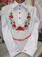 """Блузка  с вышивкой """" Маки """""""