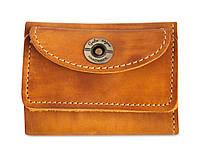 Кошелек кожаный, бумажник, женский Gato Negro Mini Orange ручной работы