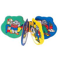 Детская игрушка-книжечка мягкая Зверюшки Canpol babies