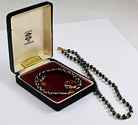 Женский винтажный набор: браслет, колье, серьги, кольцо 18К