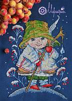Мережка Набор для вышивки крестом Різдвяний дзвіночок К-25