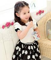 Детский Костюм футболка и юбка цветы