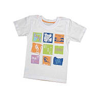 Детская белая нарядная футболка для мальчика хлопковая (город) Габби Украина