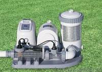 Хлор-генератор с фильтрующим насосом Saltwater System 54612 Intex