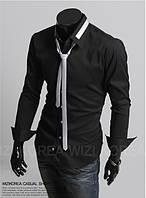 Черная рубашка с галстуком