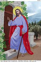 """""""Иисус стучится в двери"""".  Схема для вышивки бисером А2."""