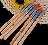 Набор плоских кистей (7шт) для художественных работ, маниюкра