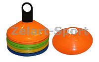 Фишки для разметки поля на пластиковой подставке С-4347 (пластик, d-20, комплект 50 штук, цветной картон)