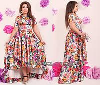 Шикарное женское платье с удлиненным задом размеры 50.52.54.