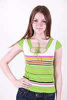Хлопчато бумажная женская футболка в расцветках, фото 1