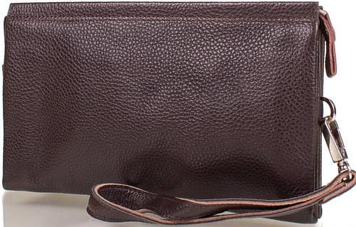 Мужская кожаная борсетка-кошелек ETERNO (ЭТЕРНО) DS6202-1-brown