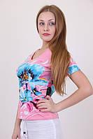 Стильная летняя женская футболка , фото 1