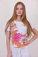 Женская футболка с красивыми цветами, фото 1
