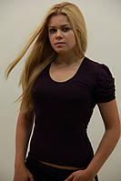 Классическая футболка с круглым вырезом горловины , фото 1