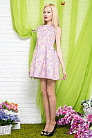 """Летнее платье гобелен """"YOU&SHE"""" с карманами и цветочным принтом (2 цвета)"""