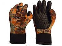 Перчатки для подводной охоты BS Diver Camolex; 7 мм коричневый камуфляж