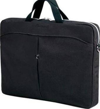 "Мужская надежная сумка для ноутбука до 15.6"" - 16"" Continent  CC-01 Black/Silver черный"