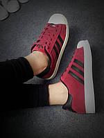 Кроссовки новые  сезон 2015 Adidas бордовые