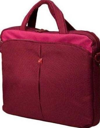 """Яркая женская сумка для ноутбука 10"""" Continent CC-010 Cranberry красный"""