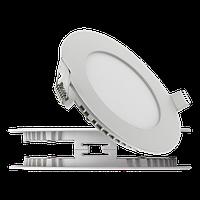 """Светодиодный светильник встаиваемый LED панель 3 Вт, 185Лм, встраиваемый """"Круг"""" либо """"Квадрат"""" ультратонкий"""